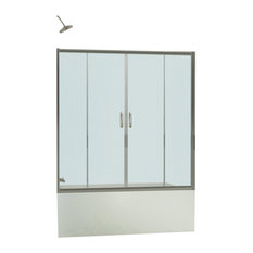 "Visions 56 to 60"" Frameless Sliding Tub Door, Clear 1/4"" Glass Door"