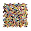 "11.25""x11.25"" Dizzy Ceramic Mosaic Floor/Wall Tile, Set of 10, Multicolored"