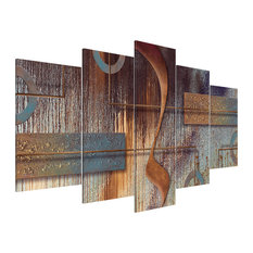 """""""Abstract Composition"""" Acrylic Prints, 100x200 cm, Set of 5"""
