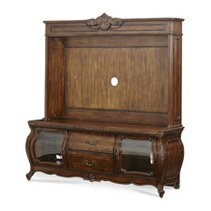 Emma Mason Signature Hillside Melange Entertainment Center In Warm Brown
