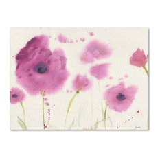 "Sheila Golden 'Purple Poppies' Canvas Art, 18""x24"""