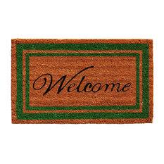 Green Border Welcome Doormat 2'x3'
