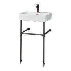 """Cheviot Products Nuo Console Sink, 19 3/4"""", Antique Bronze Frame"""