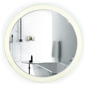 Sol Round LED Lighted Wall Mount Vanity Mirror With Defogger, 22""