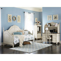 Averny Daybed, 2-Tone Finish, Antique White, Gray