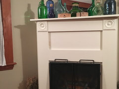 We Have No Gas To The House And No Way To Put In A Wood Burning Fireplace,  So My Husband Made This Surround And I Bought This Vintage Style Funky  Electric ...