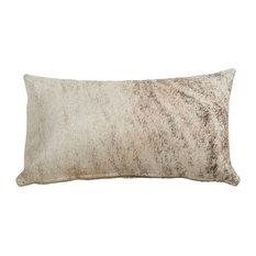 "Light Brindle Birch Cowhide Pillows Lumbar, 13x22"""