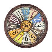 Hildale Clock, Distressed Brown Finish