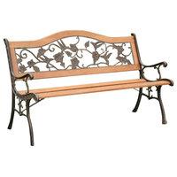 Alba Park Bench, Antique Oak