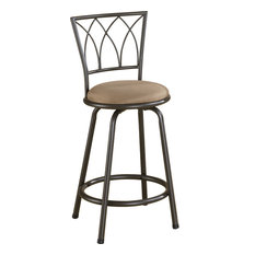 Coaster 29   Metal Bar Stool With Upholstered Seat, Counter Stool
