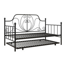 Levy Metal Daybed and Trundle, Black, Twin