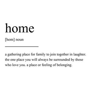 Home Definition Scandinavian Style Typography Print, A4