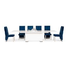 Modrest Modern Dining Table, White