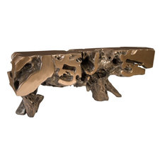 Freeform Console Table - Brown Bronze Extra Large
