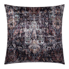 """Loloi Decorative Throw Pillow Cover With Poly, Black, 22""""x22"""""""