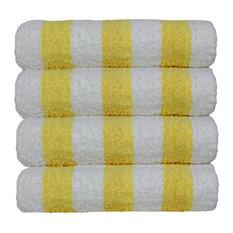 Towel 100% Cotton Pool Beach Towels, Cabana, Yellow, Set of 4