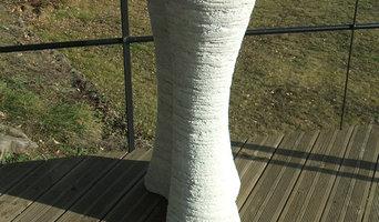 Vase T1 ciment blanc