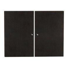 "100 Collection 30"" Rectangular Bookcase 2 Doors, Espresso"