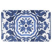 Blue Damask Tile 34x21 Bath Mat