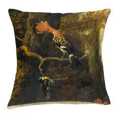 Velvet Tableau Cushion, Cockatoo
