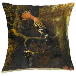 Velvet Tableau Cushion, Cockatoo
