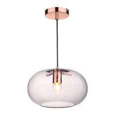 Kobe Glass and Copper Pendant Light