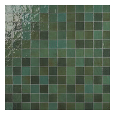 Kingston 4 in x 4 in Polished Ceramic Tile, Green