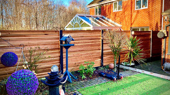 BESPOKE CEDAR FENCE PANELS - BEFORE AND AFTER