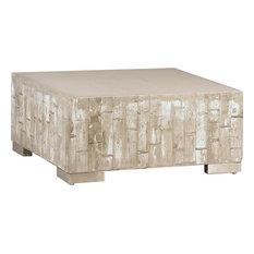 Beau Dovetail Furniture   Brighton Whitewash White Coffee Table   Coffee Tables