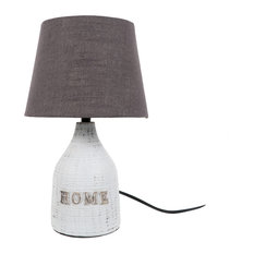 DEI   Home Lamp With Textured Shade, Small   Table Lamps