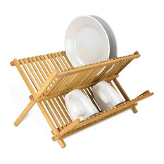 Foldable Bamboo Dish Drainer