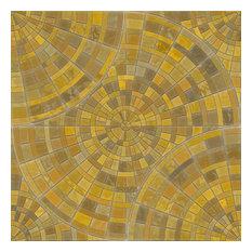 Sol Mosaic Shelf Paper Drawer Liner, 120x12, Laminated Vinyl
