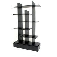 Numeral Accent Shelves Bookcase, Black