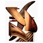 """Timothy Hogan Studio - """"Handmade Wood Fins"""", Surf Art Photograph, Unframed, 27''x35'' - Handmade Vintage Wood Surfboard Fins, photographed by Timothy Hogan. The rich wood tones of these handmade vintage surfboard fins from the 1960's and 1970's speak volumes about craftsmanship and bring a warm, handmade feel to your wall. Order the largest size to explore the subtle details of sandpaper scratches and tooling marks found on each fin."""