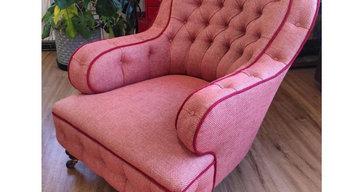 Sutherland iron back armchair