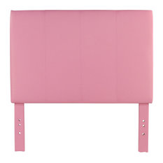 Chris Contemporary Leatherette Headboard In Pink Full Queen