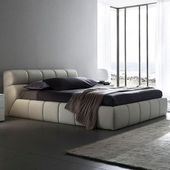 cloud beige modern platform bed platform beds