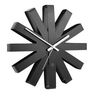 Umbra Ribbon Wall Clock, Black