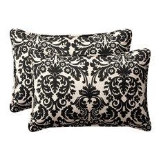 Pillow Perfect, Inc.   Essence Black Beige Oversized Rectangle Throw Pillow,  Set Of