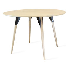 Clarke Round Table, Black, Large, Maple