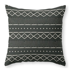 """Society6 Mudcloth In Bone O, Throw Pillow, Indoor Cover, 16""""x16"""", Pillow Insert"""