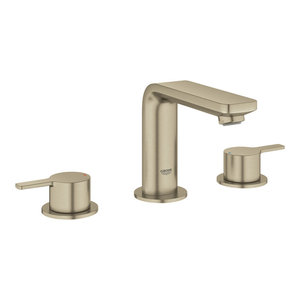 Grohe 20 578 A Lineare 1.2 GPM Deck Mounted M-Size Bathroom Faucet with Pop-Up