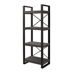 "Walker Edison Furniture Company - Angelo Home 62"" Media Storage Tower, Charcoal - Media Racks and Towers"