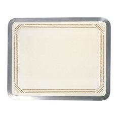 "16""x20"" Built-in Glass Cutting Board, Almond Border"