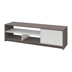 Atlin Designs 53.5-inch TV Stand In Bark Gray And White