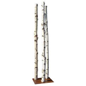 Birch Tree Column, 3 Trunks