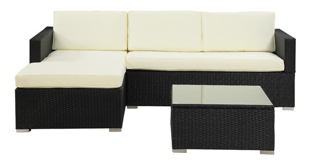 Robbins Outdoor Sectional Sofa Set, Beige