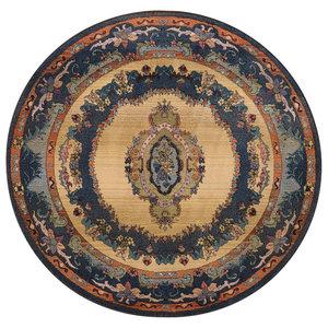 Gabiro Design 221 Rug, Blue, 120 cm Round
