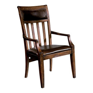 Antique Distressed Arm Chairs Set Of 2 Traditional