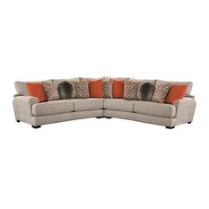 Jackson Furniture Ava 3pcs Sectional Set in Cashew